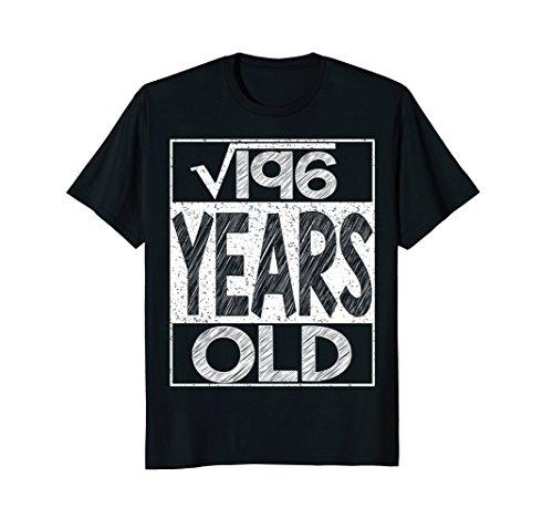 Mens Square Root of 196 Shirt Cool Gift Idea 14th Birthday TShirt Small Black