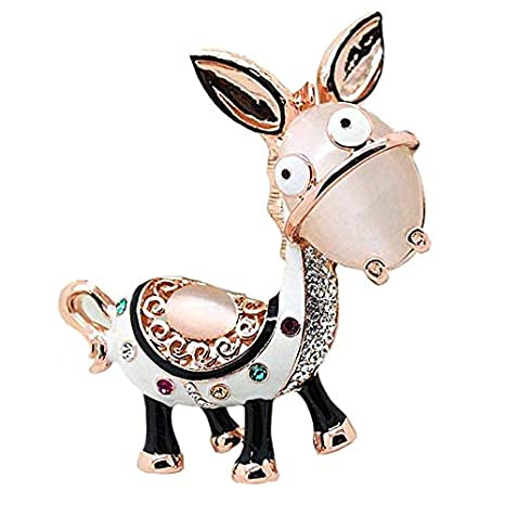 Amazon.com: jewelbeauty Cute Animal Donkey Fashion vidrio ...