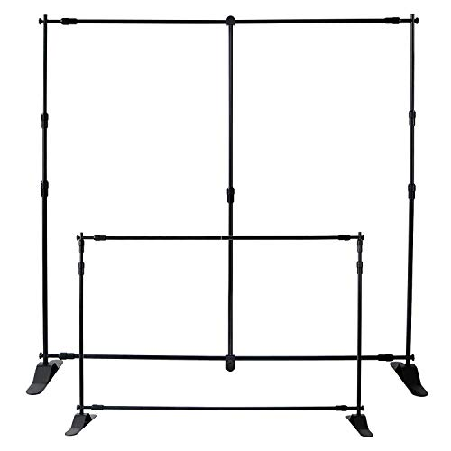T-Sign 8'x8' Professional Backdrop Banner Stand Large Tube Heavy Duty Telescopic Step and Repeat for Photo Booth Background and Trade Show with Carrying Case and Sand Bags for Free by T-SIGN (Image #1)