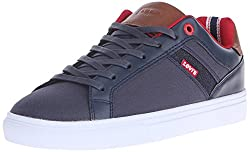 Levis Men's Henry Canvas Sport Fashion Sneaker, Red/Navy, 9.5 M US