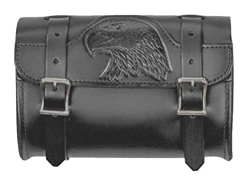 - Mascorro Motorcycle Embossed Eagle Small Tool Pouch Bag, Genuine Leather BP50B