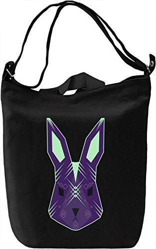 Ethnic Rabbit Borsa Giornaliera Canvas Canvas Day Bag| 100% Premium Cotton Canvas| DTG Printing|