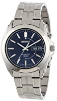 Seiko Men's SMY111 Stainless Steel Kinetic Blue Dial Watch by Seiko