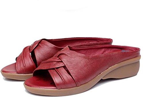 pengweiSe?ora sandalias de verano con fondo suave media zapatillas de edad 2