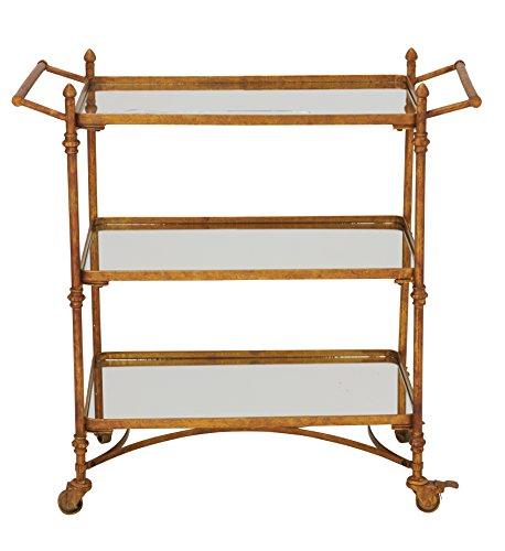 - Deco 79 87441 Metal & Mirror bar Cart