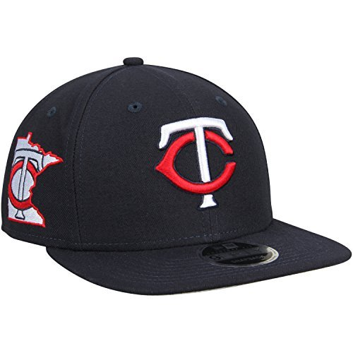 100% Authentic, Minnesota Twins New Era Black State Clip Snapback 9FIFTY Hat -