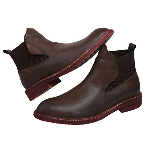 Stivali Stivali Antiscivolo da Pelle Casual Brown da Rivestiti Stivali Stivali Uomo Martello Chelsea da da Smart in Esterno Sci da da Stivali Equitazione Uomo rpTr4qU
