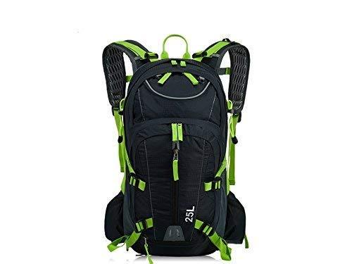 Borse all' aperto, outdoor e indoor outdoor sports casual equitazione zaino arrampicata borsa zaino da escursionismo (nero + verde)