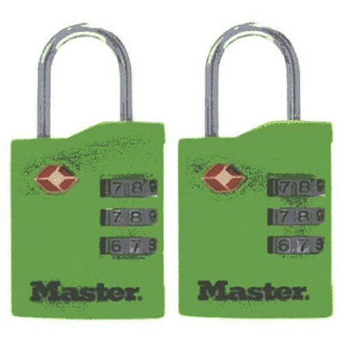 - Master Lock 4684T TSA-Accepted Lock Assorted Colors, 2-Pack