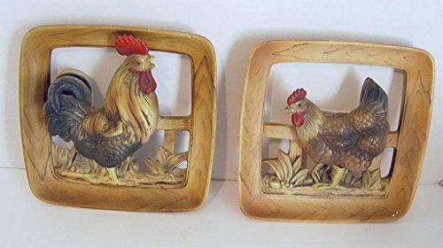 Vintage Napcoware Rooster & Hen Square 8