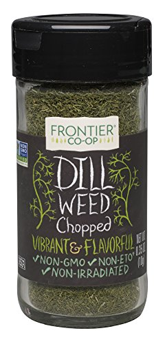 Spices Dill (Frontier Culinary Spices Dill Weed Cut and Sifted, 0.35-Ounce Bottle)
