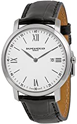 Baume and Mercier Classima Executives White Dial Stainless Steel Mens Watch 10097