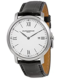 Baume and Mercier Classima Executives White Dial Stainless Steel Mens Watch M0A10097