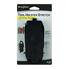 The durable and rugged Nite Ize Tool Holster Stretch is a small taste of what we do best - ingenious design and sturdy construction, all rolled into one essential piece of gear. Made of ballistic nylon, molded EVA foam insulation and elastic ...