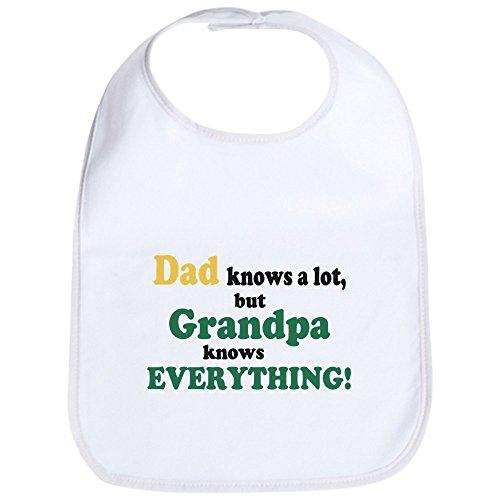 CafePress - Grandpa Knows Everything Bib - Cute Cloth Baby Bib, Toddler Bib