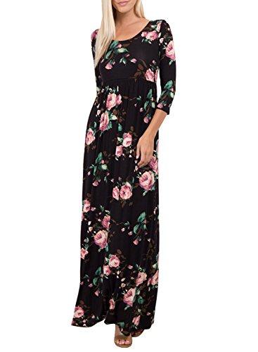 long black empire waist dress - 4