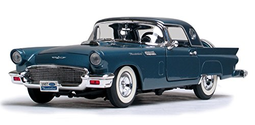 Road Signature 92358 Scale 1:18 1957 Ford Thunderbird Vehicle, Dark Blue