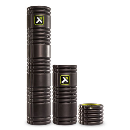 TriggerPoint Grid Foam Roller, Mini (4 inch), Black