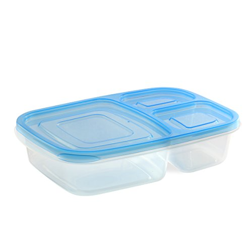 3 compartment bento lunch box containers 12 pack general general. Black Bedroom Furniture Sets. Home Design Ideas