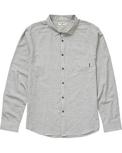 Billabong Men's All Day Helix Long Sleeve Shirt, Light Grey M
