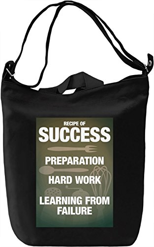 Recipe of success Borsa Giornaliera Canvas Canvas Day Bag| 100% Premium Cotton Canvas| DTG Printing|