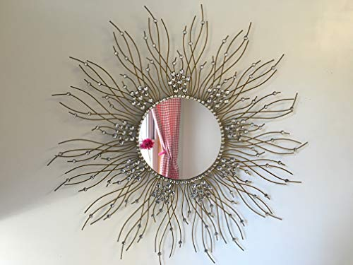 Beautiful Large Mirror for Bathroom,Livingroom Wall Mirror,Kitchen Wall Mirror Decorative in Sunburst -