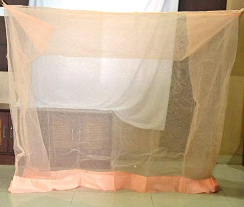 Amazon price history for 10x6.5 FT Peach Colour- Mosquito Net for King Size Bed Deluxe Poly Cotton Material - Mosquito Net for Bedroom | Queen (King Size Bed)