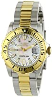 """Invicta Women's 6895 """"Pro-Diver"""" Stainless Steel, 18k Yellow Gold Plating, and Mother-of-Pearl Bracelet Watch from Invicta"""