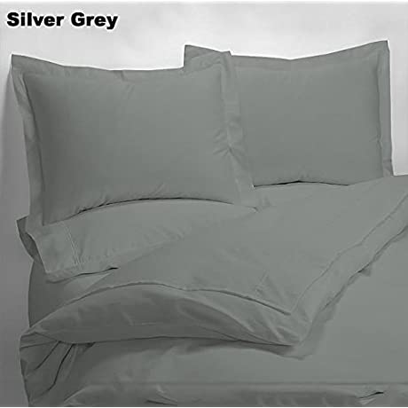 Luxury 600 Thread Counts 7pc Bed In A Bag Hospital Extra Long Size Silver Grey Solid 100 Egyptian Cotton By PARADISEHOUSE