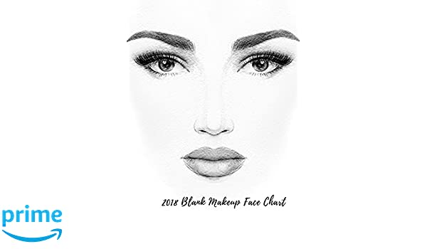 2018 Blank Makeup Face Chart: Female Faces Large Notebook Paperback – January 9, 2018