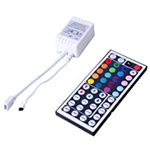 HDE 44 Key IR Infrared Remote Control for LED RGB 3528 5050 Multicolor Light Strip