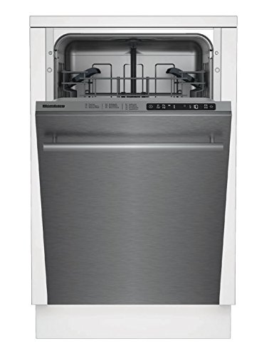 "Blomberg DWS55100SS Built In Dishwasher with 8 Assign Settings and 4 Wash Cycles, 18"", Stainless Steel"
