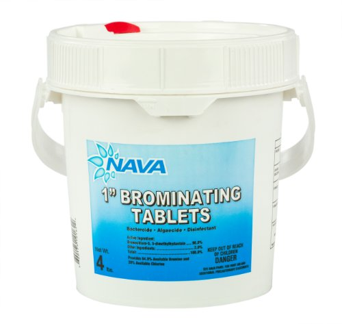 Nava 1-Inch Swimming Pool and Spa Bromine Solid Tablets (4 Lbs)
