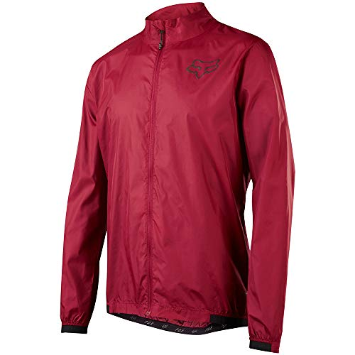 Fox Head Men's Attack Wind Lightweight MTB Jacket (Dark Red, Medium)