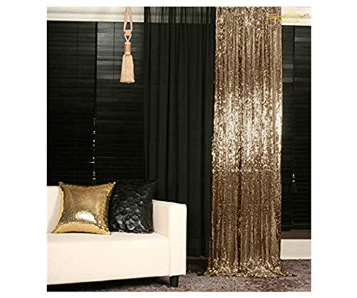 Copper Curtain - ShinyBeauty Sparkle Backdrop Curtain Copper 2 Panels Set Sequin Photo Backdrop Blush Gold 2FTx8FT Sequin Backdrop Curtain Pack of 2~1220S