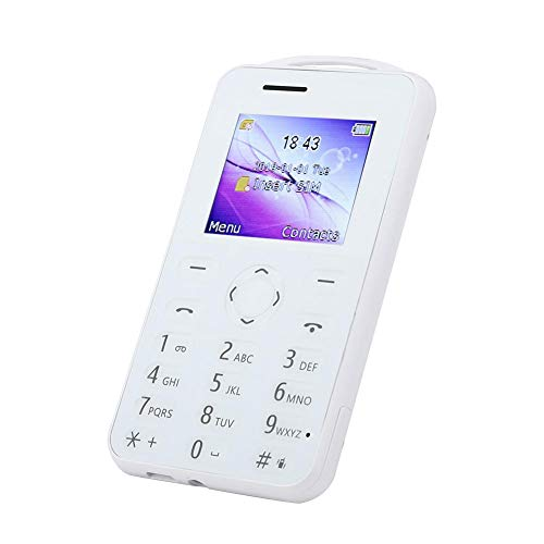 Unlocked Cell Phones, 1.77inch Multi-languages Mini Card Mobile Phone Support Memory Card with Alarm Clock, Calculator…