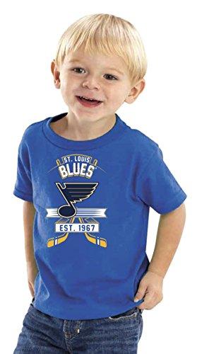 Soft As A Grape NHL St. Louis Blues Kids Tee, 3 Tall, Royal