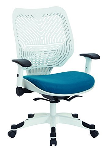 Spaceflex Back Managers Chair - White Self Adjusting SpaceFlex Back Managers Chair