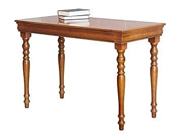 Bureau Classique en Bois Style Louis Philippe avec tiroir, merisier ...