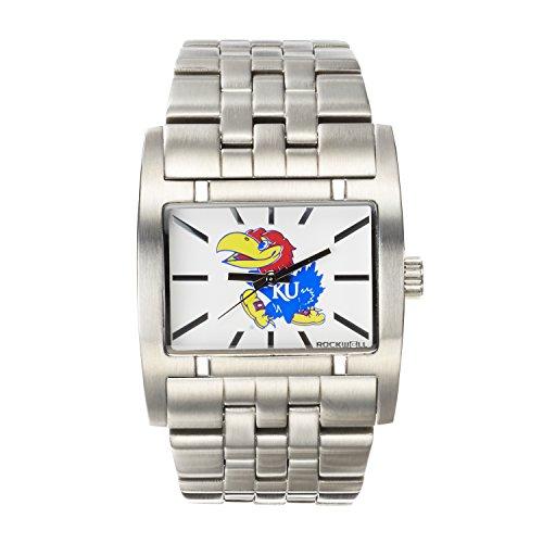 Rockwell NCAA Kansas Jayhawks Men's Apostle Watch, Adjustable, Silver - Kansas Jayhawks Sport Steel Watch