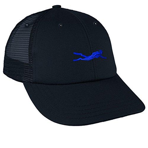 Diver Hat (Sport Scuba Diving Diver 3 Embroidery Unisex Adult Snaps Cotton Low Crown Mesh Golf Snapback Hat Cap - Navy, One Size)