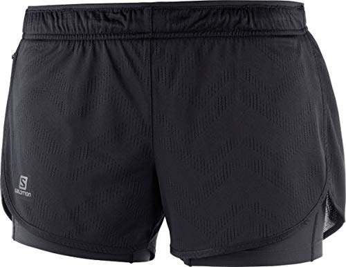 Salomon Black 2in1 Ss19 Women's Shorts Agile 0F0wfnxT