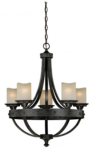 Vaxcel H0135 Halifax 5 Light Chandelier, 24.5