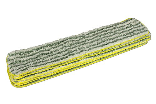 CleanAide Coral Weave Microfiber with Poly Stripe Wet and Dry Mop Pad Yellow 24 Inches 6 - Dry Pad Poly
