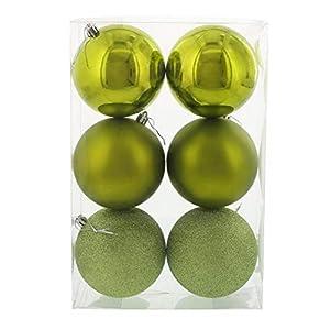 BirthdayExpress - Bright Green 100mm Ball Ornament Set 10