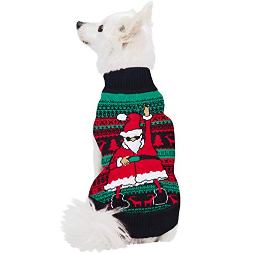 ALISISTER Dog Sweater Great Dane Chihuahua Christmas Sweaters Pet Pup Novelty Xmas Reindeer Clothes Costume XXL