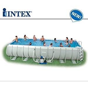 54984 Piscina Intex Fuori Terra Ultra Metal 732 x 366 x 132 1 spesavip