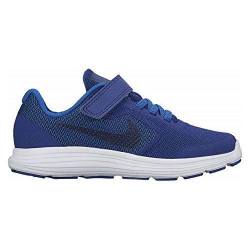 Nike Revolution 3 (PSV), Zapatillas de Deporte Para Niños Deep Royal Blue/Obsidian-Blue Jay-White