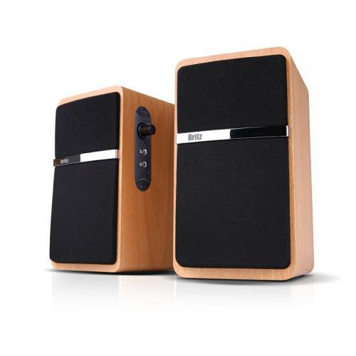 Britz 2.0Ch Premium USB Powerd Speaker, Z-2100 Pinacle2, 2.0CH Dynamic Acoustic Sound, MDF Wooden Made, Computer Speaker, Laptop PC Speaker ()