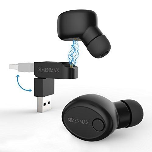 Cord Set Telephone - Simenmax Bluetooth Headset Headphone Invisible Wireless Earbud Earpiece Earphone
